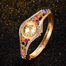 Zegarek Damski – montre-Bracelet de luxe avec strass pour femmes, petite montre, résistante aux chocs, étanche, cadeau