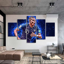 Football Posters France Mbappe 5 Pieces Wall Canvas Paintings Soccer Sports Art Kids Room Home Decor