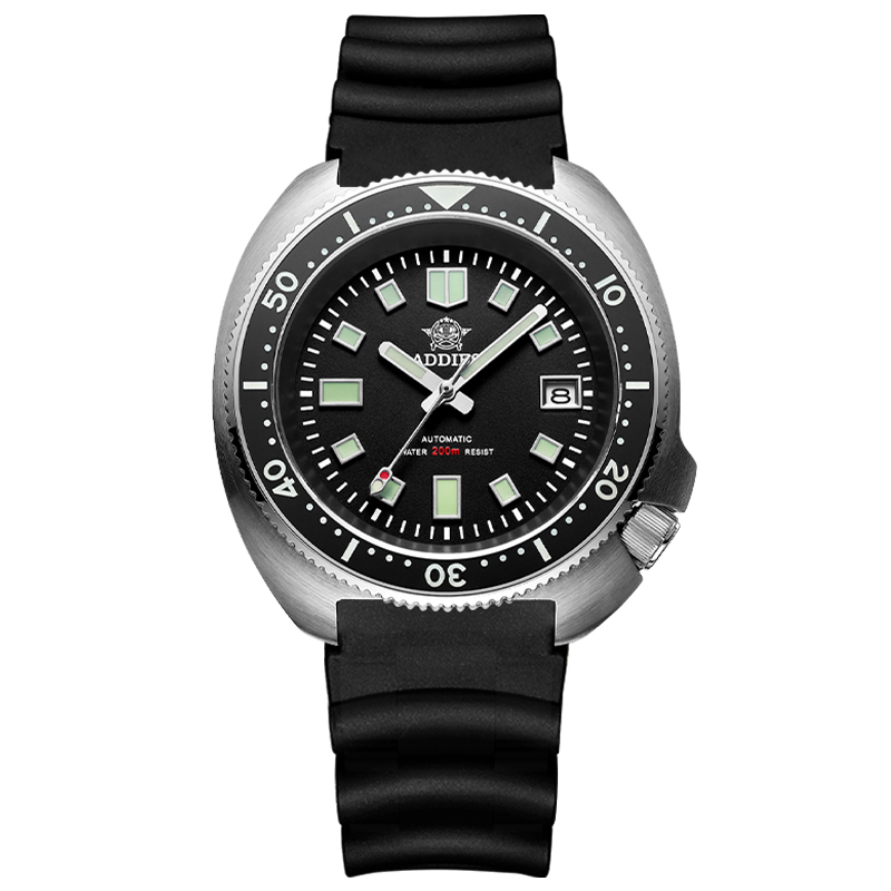 1970 Abalone Dive Watch 200m Sapphire crystal calendar NH35 Automatic Mechanical Steel diving Men's watch 13