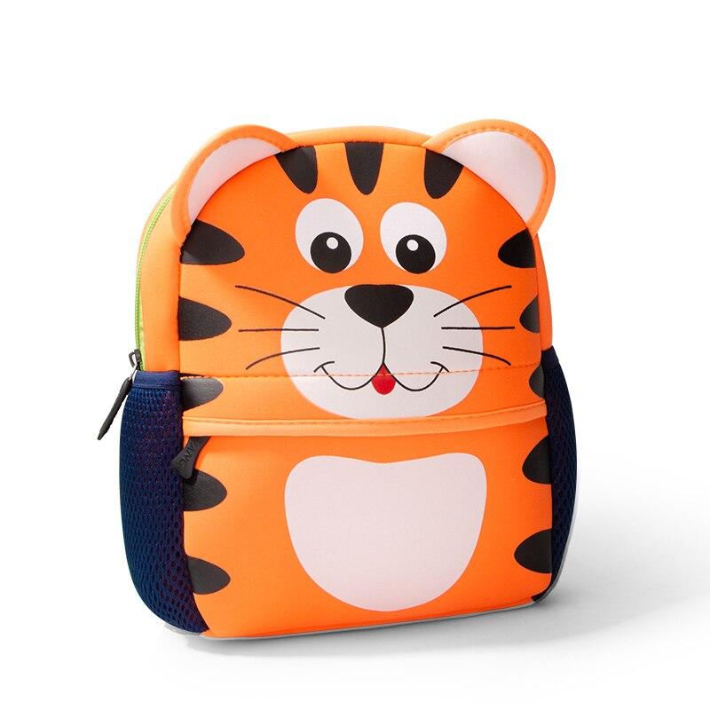 Fashion 3D Animals Children Backpacks Tiger Design Boys Backpack Toddler Girl Kids Neoprene School Bags Kindergarten Cartoon Bag
