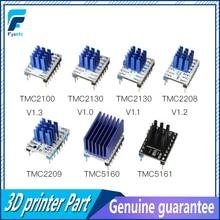 5PCS TMC2100 V1.3 TMC2130 TMC2208 TMC2209 TMC5160 TMC5161 Stepper Motor StepStick Mute Driver Silent 3D Printer parts super silent tmc2208 v1 2 stepstick stepper motor driver module heat sink for 3d printing motherboard aim vs tmc2100