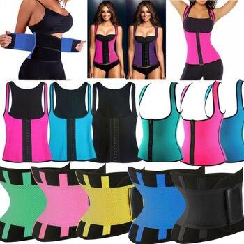 Womens Hot Sweat Sauna Neoprene Body Shaper Slimming Waist Trainer Slim Belt Gym