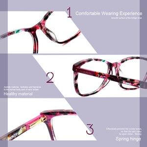 Image 3 - Nieuwe Vlinder Bril Vierkant Frame Modieuze Bril Frame Mooie Print Eyewear Voor Vrouw FVG7138