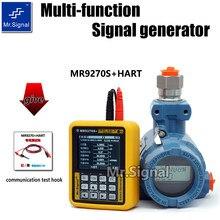 Mr9270s + hart 4-20ma gerador de sinal calibrar tensão atual pt100 termopar freqüência do gravador de transmissor de pressão