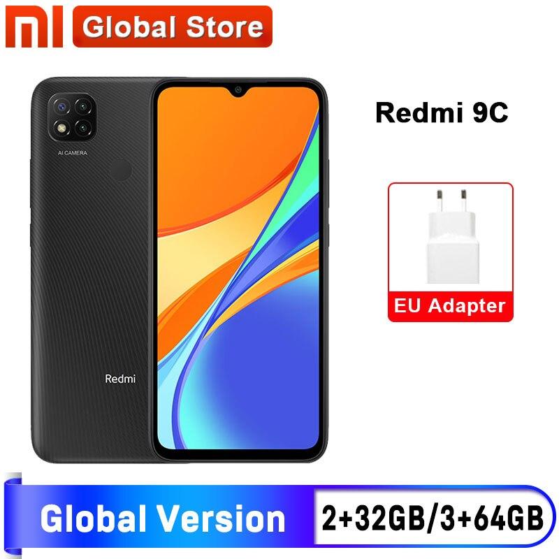 Глобальная версия Xiaomi Redmi 9C мобильный телефон 9 C 2GB 32GB/ 3GB 64GB MediaTek Helio G35 6,53