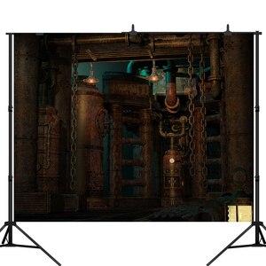 Lyavshi Vinyl Backgrounds For Photo Studio Photography Backdrops Steampunk Technological Craft Style Mechanical vintage factory