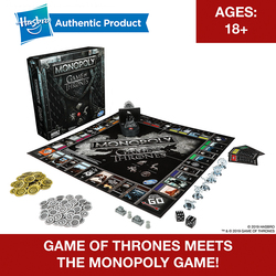 Hasbro Monopoly Game Of Thrones Board Game For 18 Years And Up To Play For Adult Family Gaming Together Popular Fans Merchandise