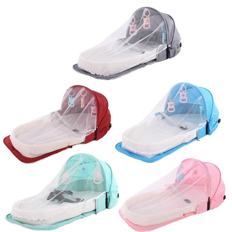 Baby Bed Travel Sun Protection Mosquito Net Foldable Infant Sleeping Basket CORB