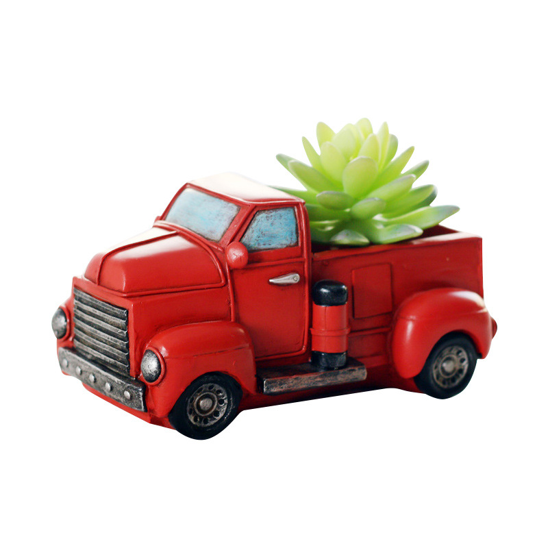 Little Red Truck Christmas Decor Handcrafted Home Decorationfigurines Miniatures Old Classic Metal Truck Fairy Garden Figurines Miniatures Aliexpress