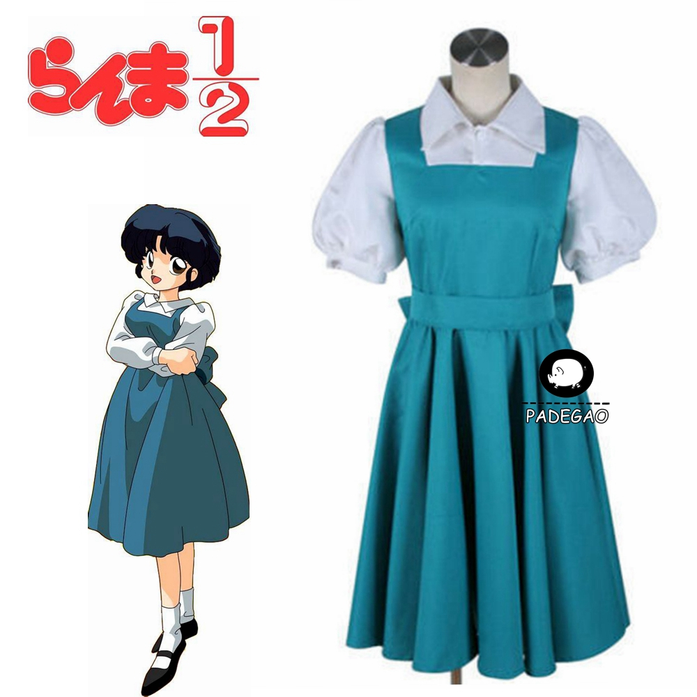 Ranma 1/2 Tendou Akane Cosplay Costume Blue Dress Uniform Cosplay Costume Free Shipping