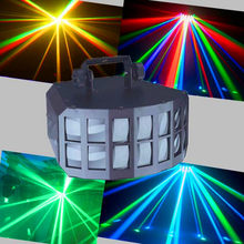 RGBW 4IN1 50W LED Double Butterfly Light For Professional KTV Bar Club Disco Wedding Party, DMX512 LED Beam Scan Stage Lighting(China)