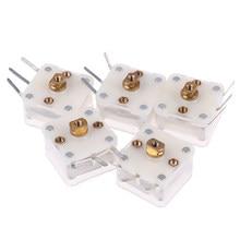5 pçs/lote Capacitor Variável Duplex 223p 60pf/140pf 2.1 milímetros Furo Do Eixo Capacitores Variáveis de Rádio!