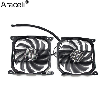 2pcs/set for Inno GTX1070TI/1070 GPU VGA Card Cooler Cooling Fan Replacement for INNO3D GEFORCE GTX 1080 GTX1080 TI X2 V2 image