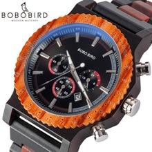 BOBO BIRD Men Watch Dial in Quartz Wooden Wood Wristwatches Male Quartz relogio masculino in Gift Box Timepieces Stopwatch цены онлайн