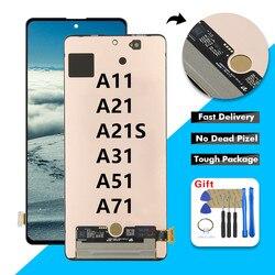 Сенсорный ЖК-экран с дигитайзером в сборе с рамкой для Samsung Galaxy A11 A21 A21S A31 A51 A71