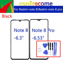 For Xiaomi Redmi Note 8 Pro Touch Screen Front Panel Glass Lens LCD Outer Glass For Redmi Note 8 Touchscreen