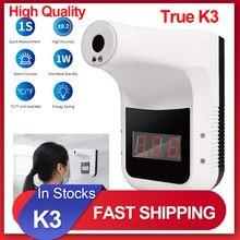 2021 k3 sem contato termômetro infravermelho digital k3 pro testa mão sensor de temperatura arma laser com alarme febre fixado na parede
