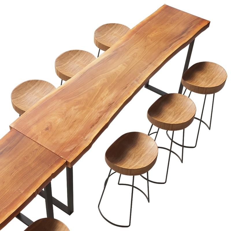 Bar Table Solid Wood Household Bar Table Balcony Table Creative Coffee