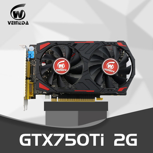 Veineda Графика карт оригинальный GPU GTX750Ti 2 Гб 128Bit GDDR5 видеокарта мгновенно убить R7 350, HD6850 для nVIDIA Geforce игры