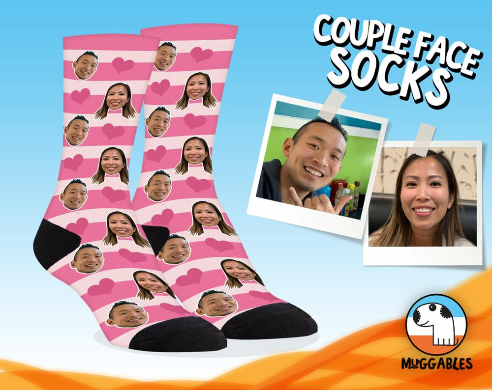Original Customized Printed Custom Sock Unique Personal Pets Face Socks Birthday Christmas Gifts Couple Lover Socks Present Sock