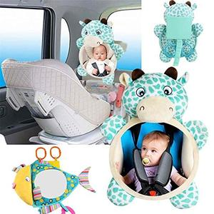 Image 3 - Baby Car Seat Mirrors Car Safety Mirror Shatterproof Rear View Backseat Mirror for Facing Infant Toddler Child in Car Seat