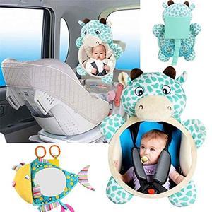 Image 3 - 아기 자동차 좌석 거울 자동차 안전 거울 Shatterproof 후면보기 자동차 좌석에 유아 유아를 직면하기위한 뒷좌석 거울