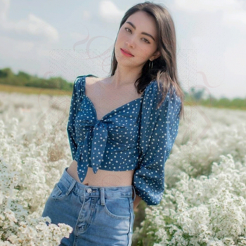 Women Top and Blouse 2020 Sexy Bows Tie Backless Polka Dot Print Crop Top Off Shoulder Mini Blouse Shirts knot side polka dot peplum top