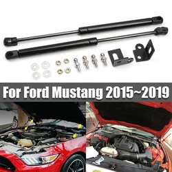 Front Engine Hood Bonnet Cover Shock Lift Struts Support Props Rod Arm Gas Spring Bracket For Ford For Mustang 2015 2016 2018