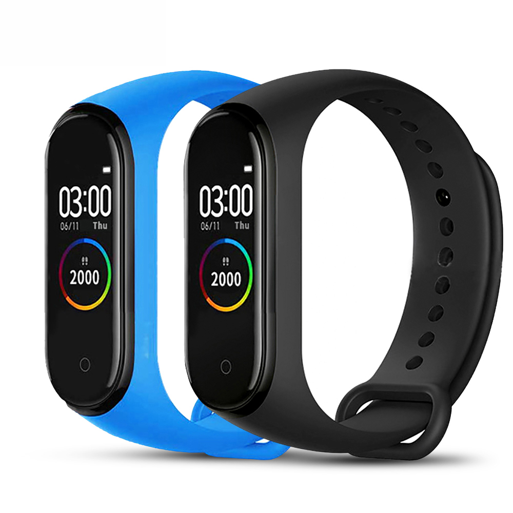 Woman Man Sport Fitness Tracker M4 Smart Heart Rate Monitor Bracelet Calories Smart Band Fashion Watch For IOS