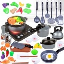 Pan Toys Cookware-Pot Simulation Kitchen-Set Doll-Food Play Kids Pretend Girls Children