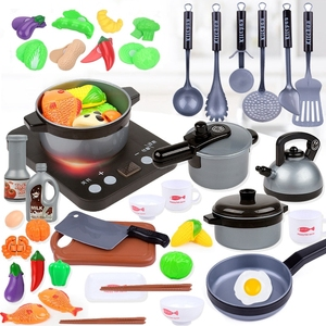Children Kitchen Toys Simulation Kitchen Utensils Food Cookware Pot Pan Kids Pretend Play Kitchen Set Toys For Girls Doll Food