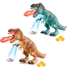 Toy Tyrannosaurus Simulated T-Rex Red-Light Realistic-Sounds Electronic Flame-Spray