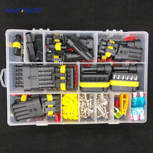 242 Pcs/piece Superseal AMP Tyco Waterproof 12V Electrical Wire Connector Sets Kits with Crimp Terminals and auto Fuse