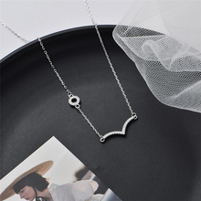 Sole Memory Diamond Seagull Bird Shiny 925 Sterling Silver Clavicle Chain Female Necklace SNE614