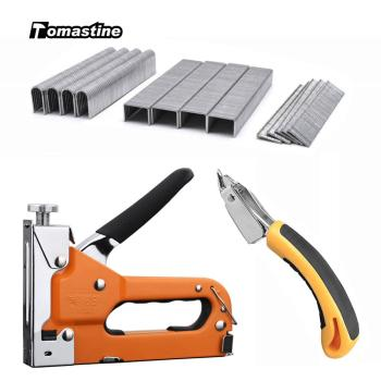 3 in 1 Staple Gun Heavy Duty Staple Gun Manual Nail Gun with Staple Remover and 600 Staples for Home Furniture DIY Hand Tools workpro 4 in 1 riveter gun hand riveter heavy duty staple gun nail staple gun for wood