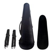 Fiberglass Full Size Violin Hard Case for 4/4 Violins Fiddles Built In Hygrometer with Carry Handle Straps