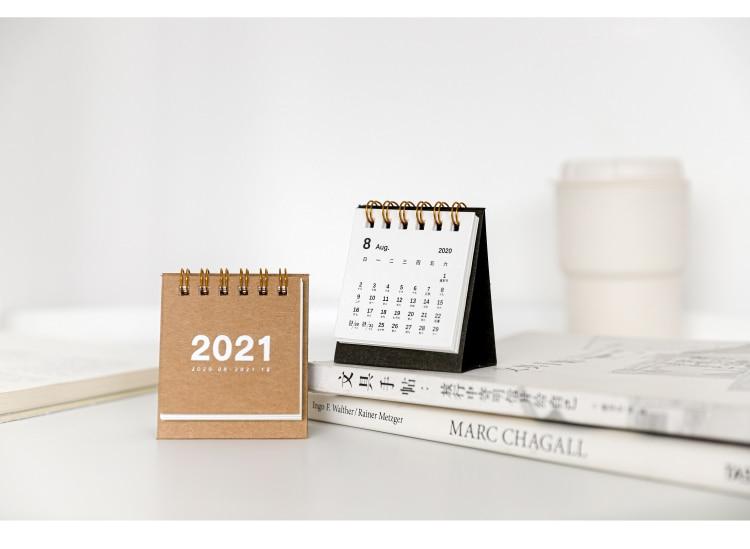 8 PÇS LOTE 2021New Mini Calendário Calendário