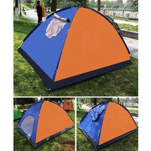 1/2/3-4/6 Person Camping Tents Single Layer Waterproof Windproof Sunshade Outdoor Tent Driving Camping Picnic Accessories(China)