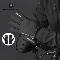 Rockbros Cycling Gloves Men Winter Warm Thicken Windproof Bike Bicycle Gloves Motocycle Skiing Gloves Luvas Ciclismo