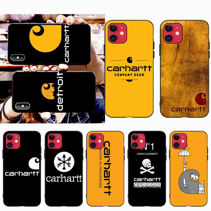 CUTEWANAN American clothing brand Carhartt Coque Shell Phone Case for iPhone 11 pro XS MAX 8