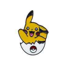 Cute Bros dan Enamel Pin Kartun Pokemon Tas Ransel Kerah Pin(China)