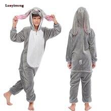 Детские пижамы с единорогом для девочек и мальчиков, кигуруми, комбинезон в виде кролика, Детская Пижама с животными, детские костюмы с единорогом, зимний комбинезон, одежда для сна