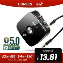 Ugreen – Récepteur de musique RCA avec Bluetooth, adaptateur Aux sans fil, jack pour TV et voiture, lecteur audio 5.0 3.5, 5.0 aptX LL, 3,5mm
