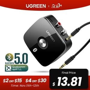 Image 1 - Ugreen bluetooth rca receptor 5.0 aptx ll 3.5mm jack aux adaptador sem fio música para tv carro rca bluetooth 5.0 3.5 receptor de áudio