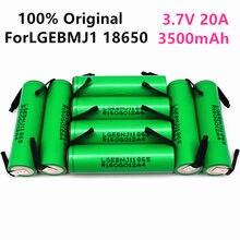 100% original mj1 3.7 v 3500mah 18650 bateria recarregável de lítio para baterias de lanterna para lg mj1 18650 bateria + níquel diy