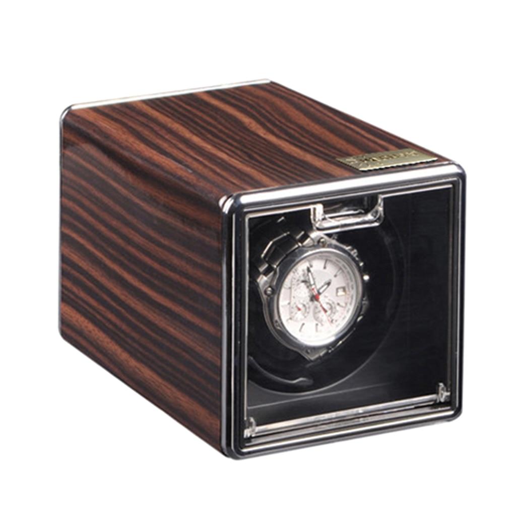 Automatique unique montre enrouleur bois boîte d'affichage boîtier stockage moteur silencieux.