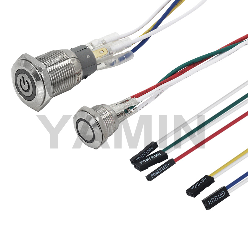 Ultimate SaleSwitch Light Lamp Wire Main-Board Power-Supply Computer Push-Button Metal 3-6V for PC