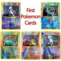 Juego de cartas de Pokémon de primera generación para niños, juguete para regalo, 1996