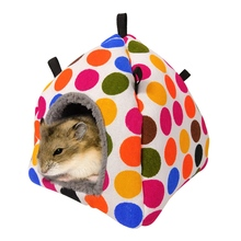Small Animals Cage Hanging House Winter Warm Hammock Hanging Bed Hamster Cave For Cage S/L цена