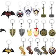 5pcs lot marvel movie masks avengers hulk captain america batman spiderman ironman party mask boy gift action figures toys e Marvel The Avengers Keychain Thor's Hammer Thanos Gauntlet Captain America Shield Hulk Batman Mask Key Ring Wholesale